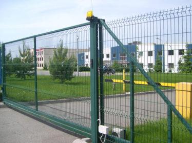 3d забор с автоматическими откатными воротами