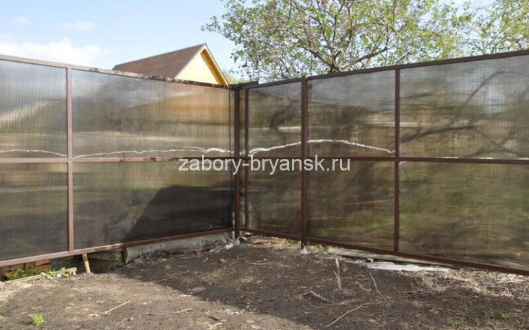 забор из поликарбоната в Брянске