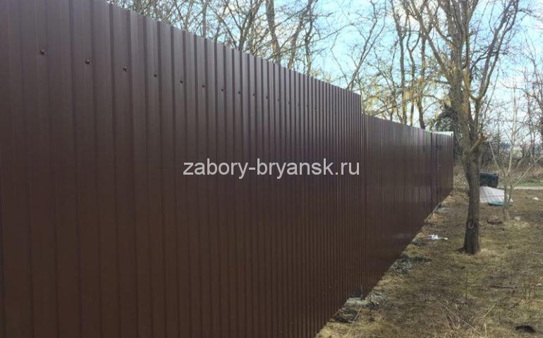 забор из профлиста в Брянске